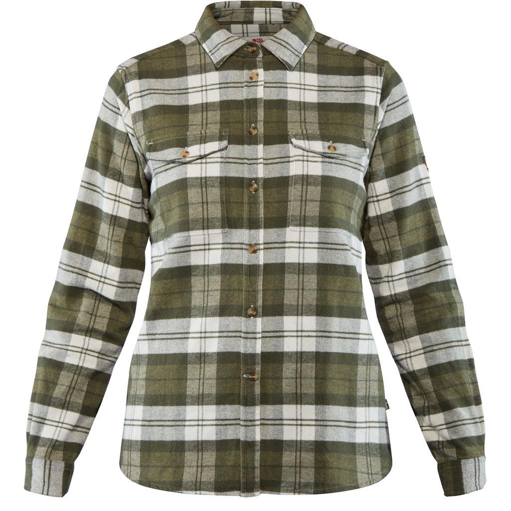 fjellreven Övik heavy flannel shirt dame - green