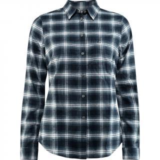 fjellreven Övik flannel shirt dame - dark navy