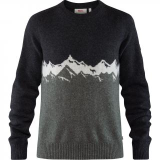 fjellreven greenland re-wool view sweater herre - dark grey