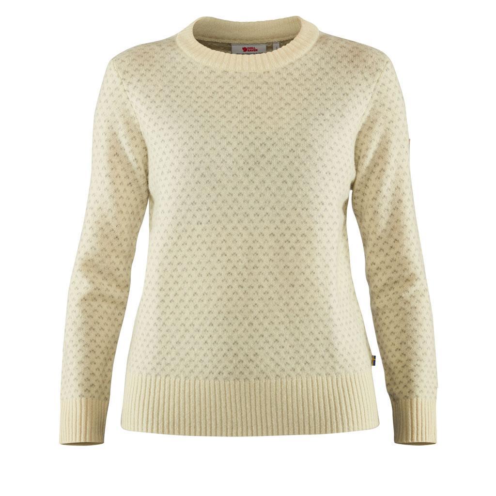 fjellreven Övik nordic sweater dame - chalk white