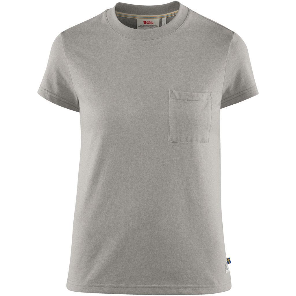 fjellreven greenland re-cotton t-shirt ss dame - grey