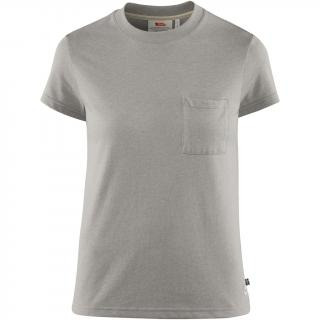 fjellreven greenland re-cotton t-shirt ss dame - grey