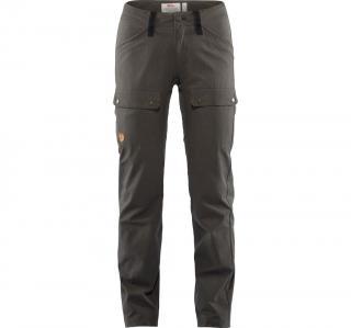 fjellreven keb lite trousers regular dame - stone grey - black