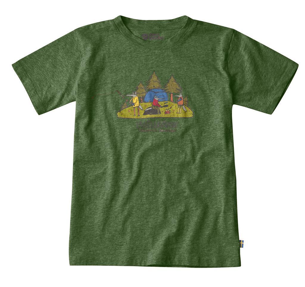fjellreven kids camping foxes t-skjorte - fern
