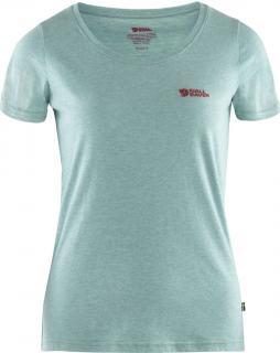 fjellreven fjällräven logo t-shirt dame - clay blue - melange
