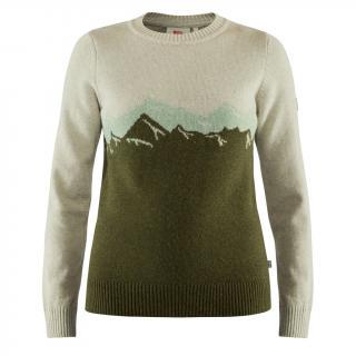fjellreven greenland re-wool view sweater dame - laurel green