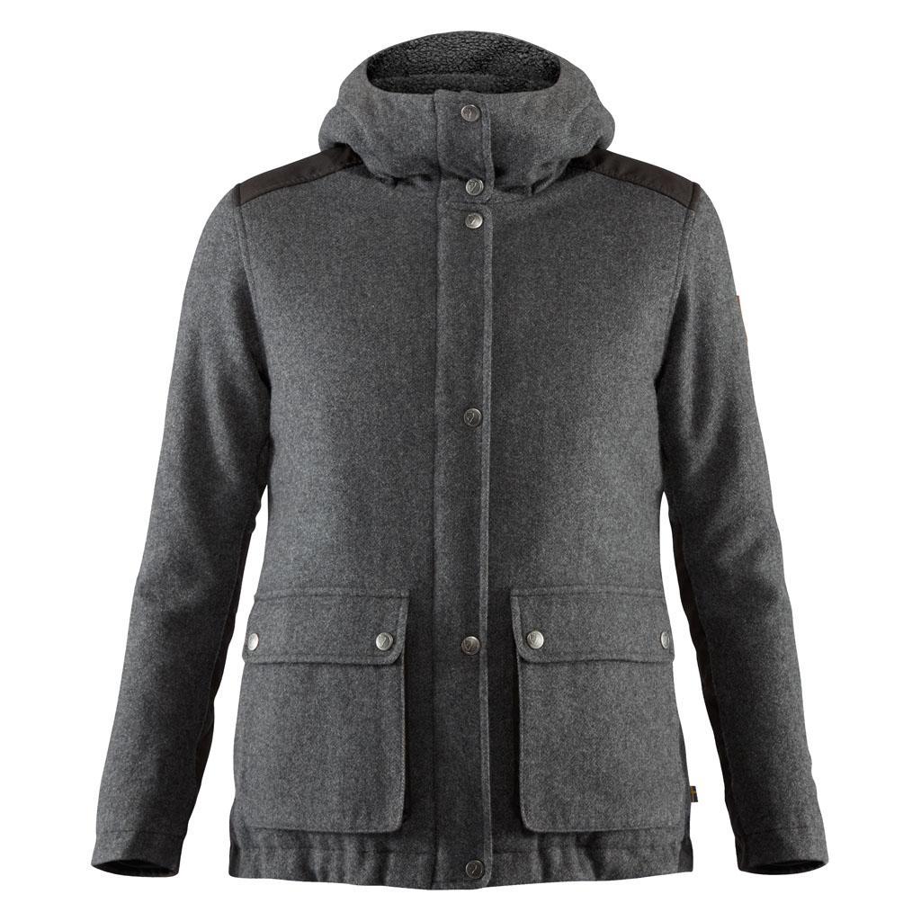 fjellreven greenland re-wool jakke dame - grey