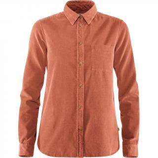 fjellreven Övik cord shirt dame - terracotta pink