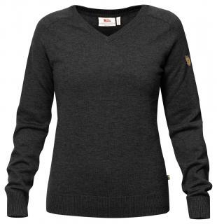 fjellreven sörmland v-neck sweater dame - dark grey