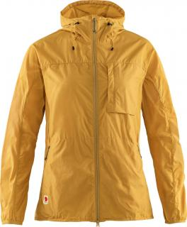 fjellreven high coast wind jacket dame - ochre