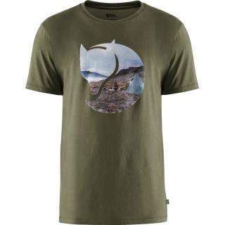 fjellreven gädgaureh '78 t-shirt herre - green