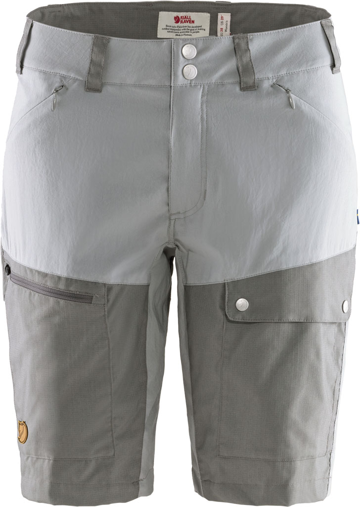 fjellreven abisko midsummer shorts dame - shark grey - super grey