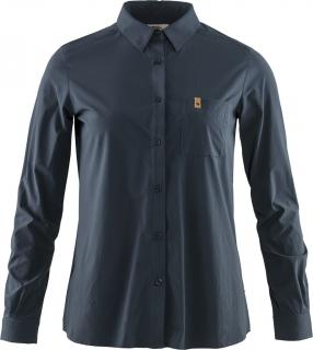 fjellreven Övik lite shirt ls dame - navy