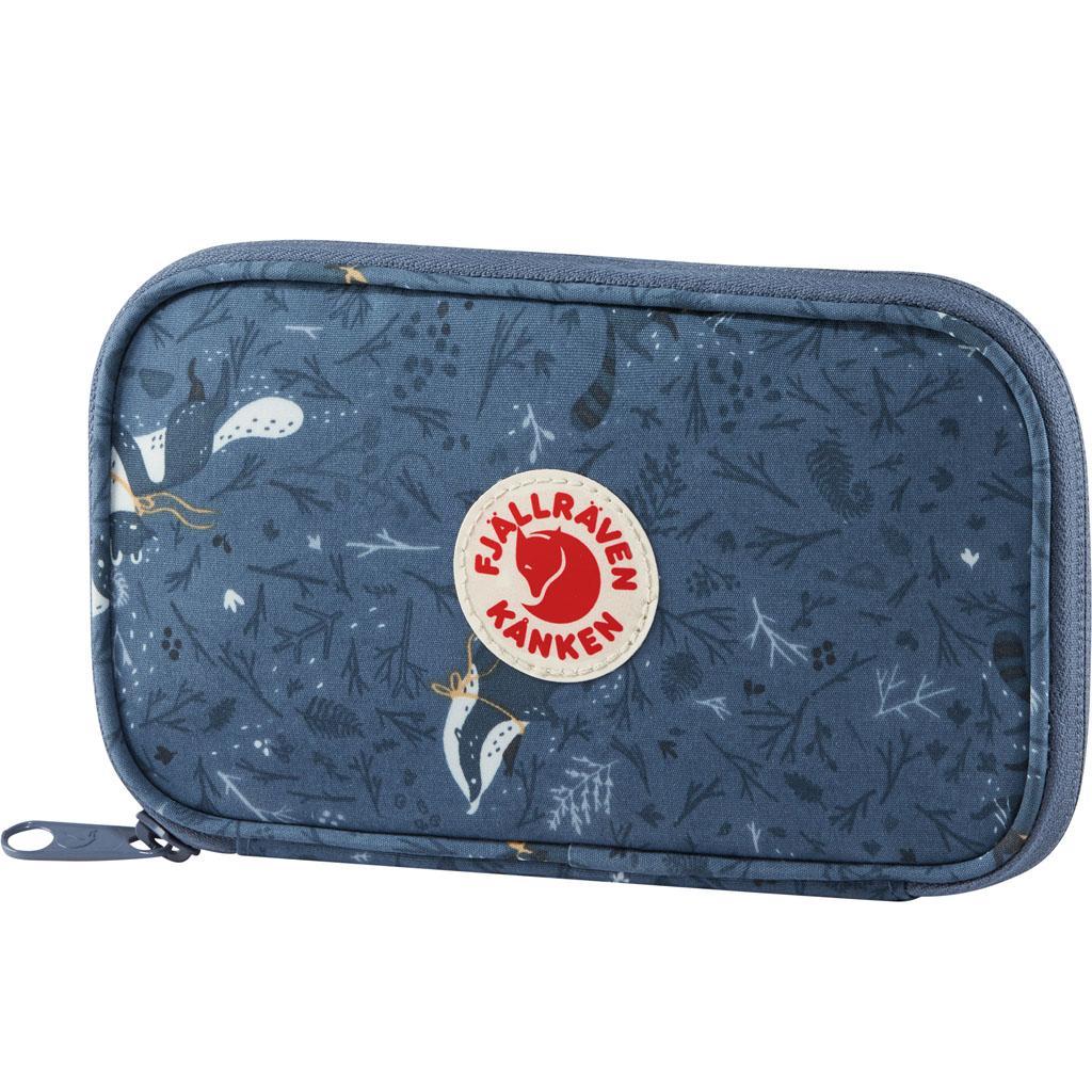 fjellreven kånken art travel wallet - blue fable