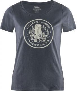 fjellreven fikapaus t-shirt dame - navy
