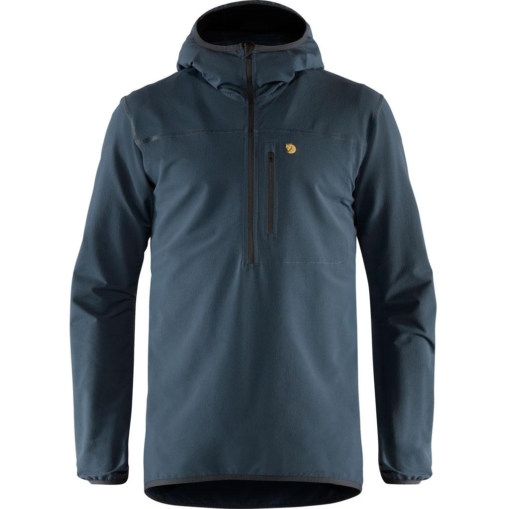 fjellreven bergtagen stretch half zip herre - mountain blue