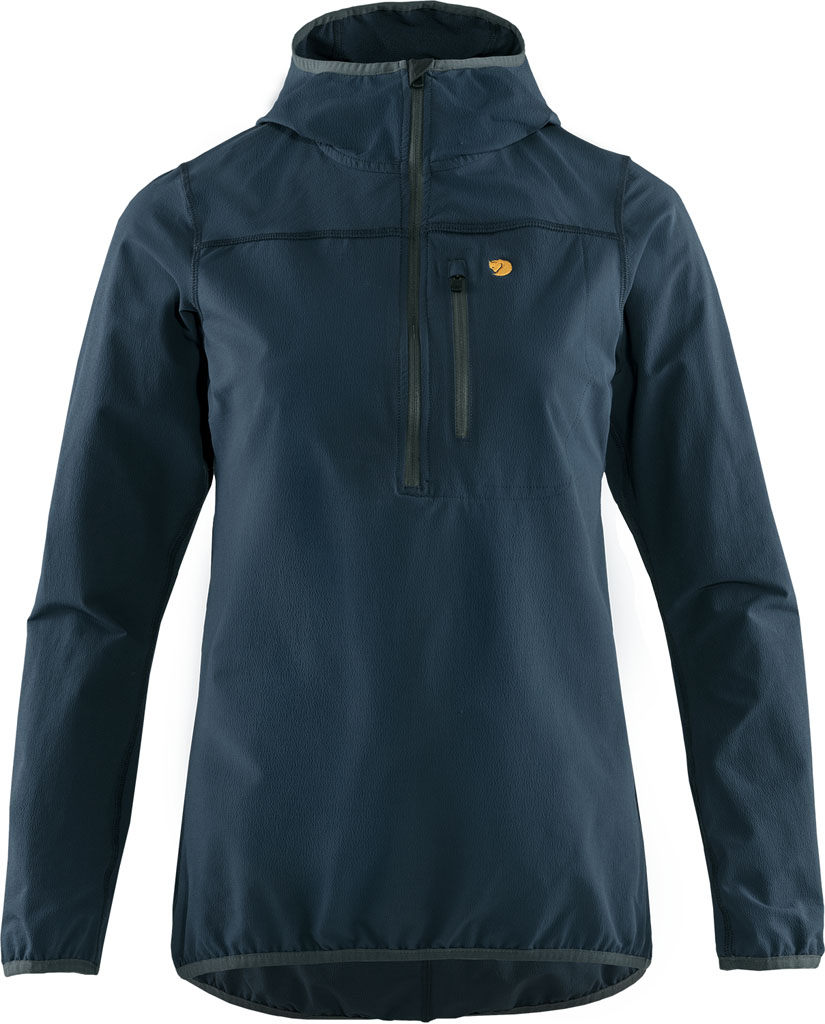 fjellreven bergtagen stretch half zip dame - mountain blue