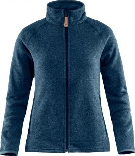 fjellreven Övik fleece zip sweater dame - navy