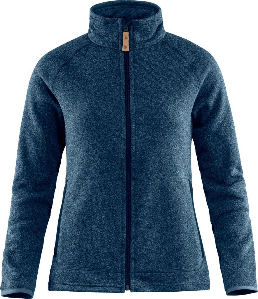 fjellreven Övik fleece zip sweater dame - navy
