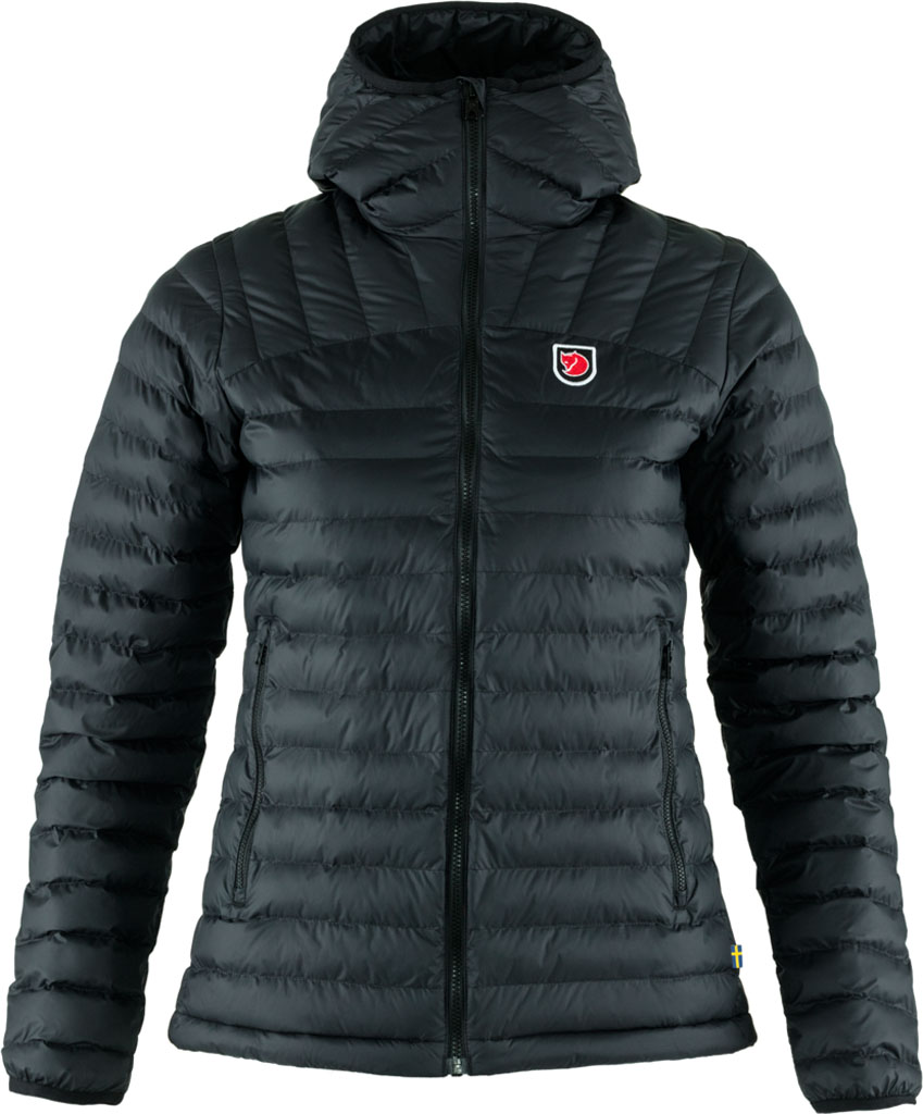 fjellreven expedition lätt hoodie dame - black