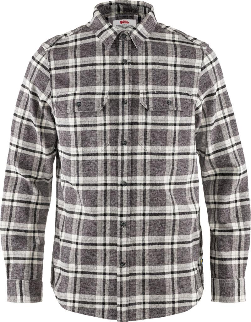 fjellreven Övik heavy flannel shirt herre - dark grey