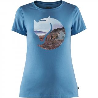 fjellreven gädgaureh '78 t-shirt dame - river blue