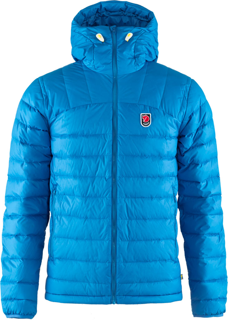 fjellreven expedition pack down hoodie herre - un blue