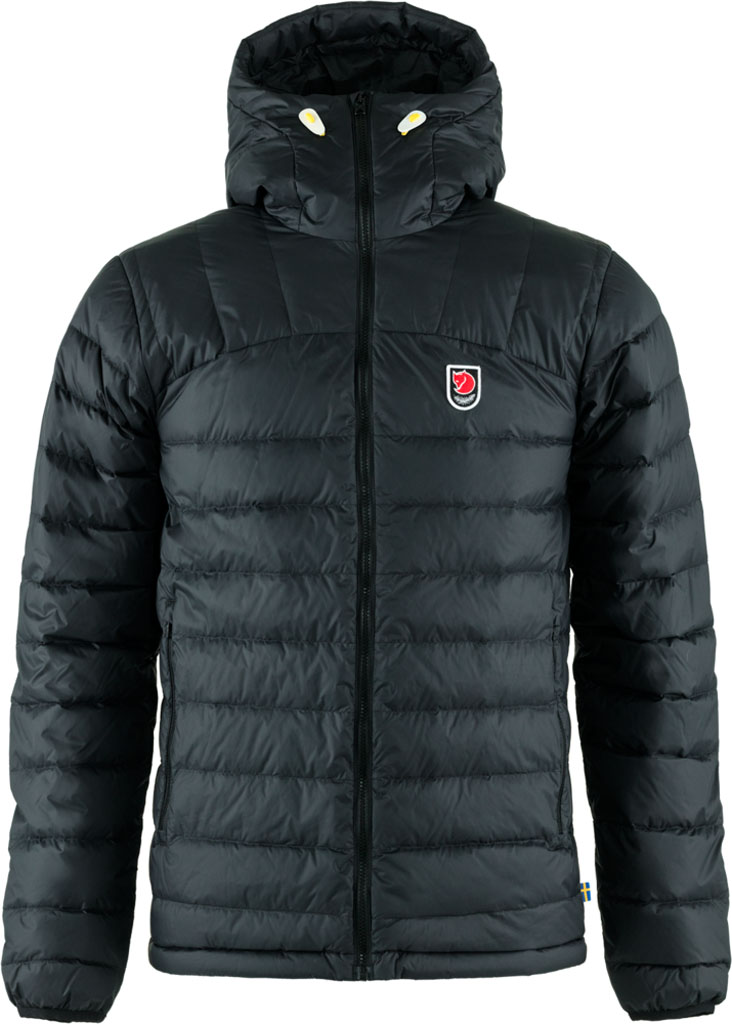 fjellreven expedition pack down hoodie herre - black