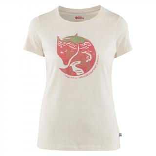 fjellreven arctic fox print t-shirt dame - chalk white