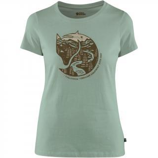 fjellreven arctic fox print t-shirt dame - sage green