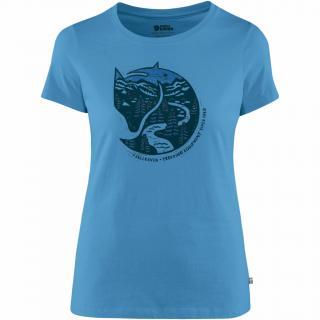 fjellreven arctic fox print t-shirt dame - river blue