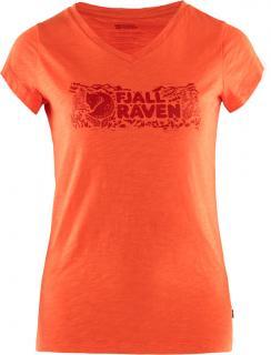 fjellreven logo stamp t-shirt dame - rowan red