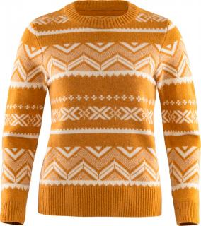 fjellreven greenland re-wool pattern knit dame - acorn