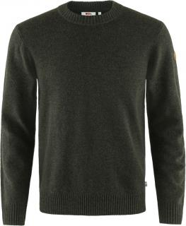 fjellreven Övik round-neck sweater herre - dark olive