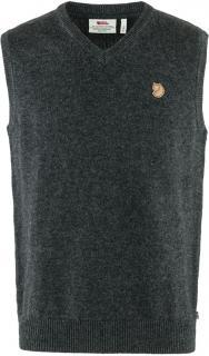 fjellreven Övik wool vest herre - dark grey