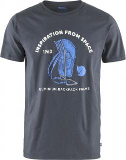 fjellreven space t-shirt print herre - navy
