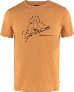fjellreven sunrise t-skjorte herre - spicy orange