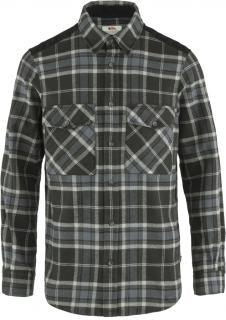 fjellreven Övik twill shirt herre - black - fog