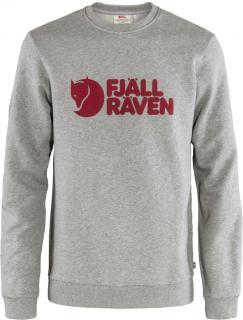fjellreven fjällräven logo sweater herre - grey - melange