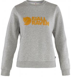 fjellreven fjällräven logo sweater dame - grey - melange