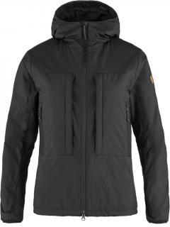 fjellreven keb wool padded jacket dame - black