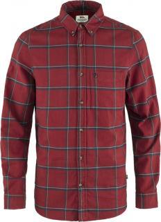 fjellreven Övik comfort flannel shirt herre - red oak - navy